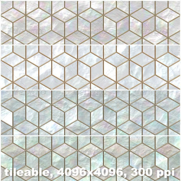 4 Mother of Pearl Mosaic Backgrounds