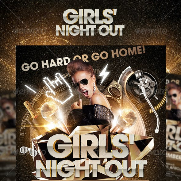Girls Night Out / We Crash The Night Party Flyer