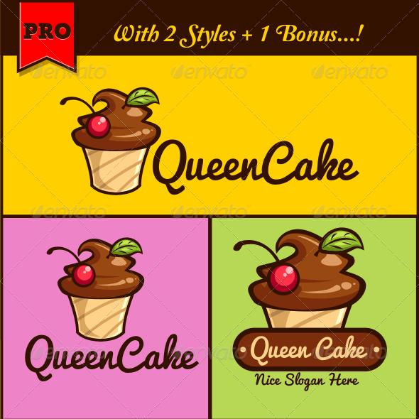 QueenCake Cupcake Logo