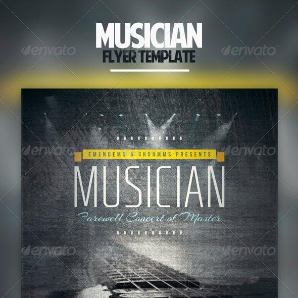 Musician Flyer Template