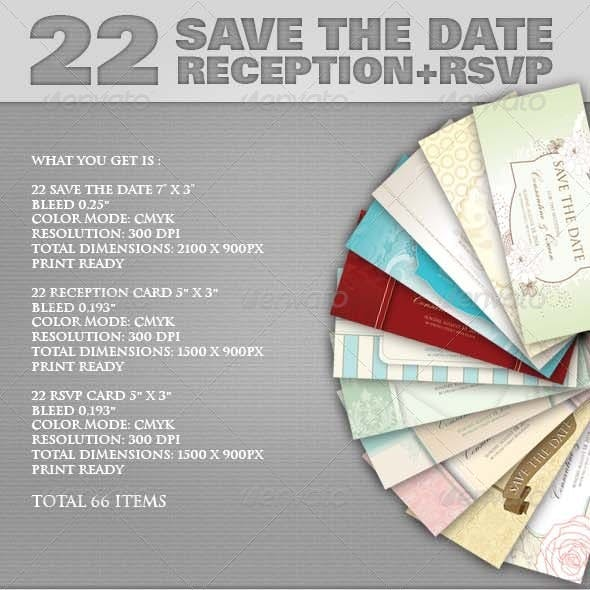 22 Save The Date Sets