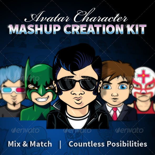 Avatar Character Mashup Creation Kit