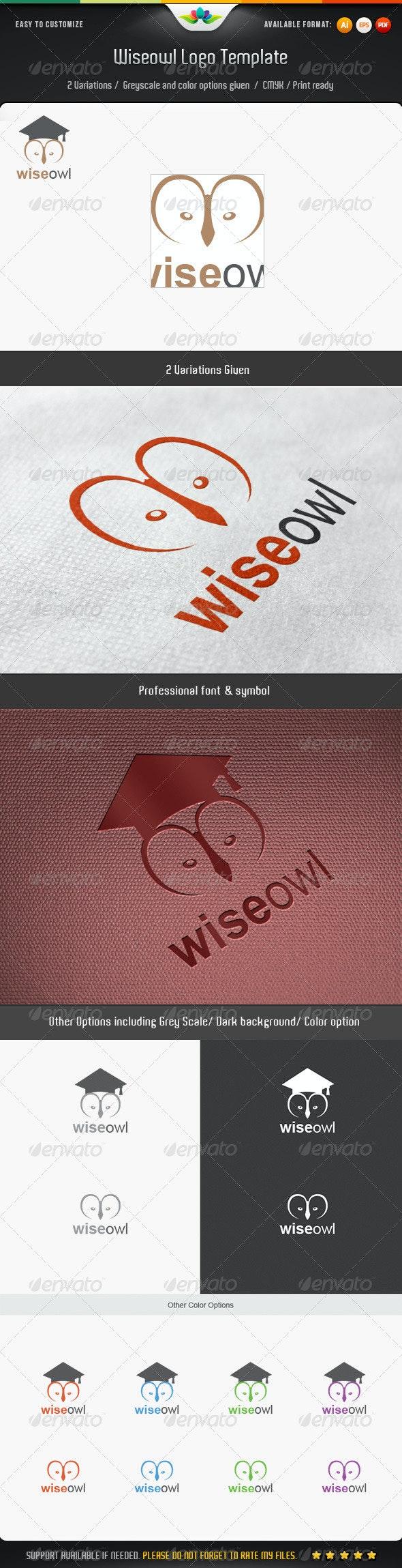 Wiseowl Logo Template - Animals Logo Templates