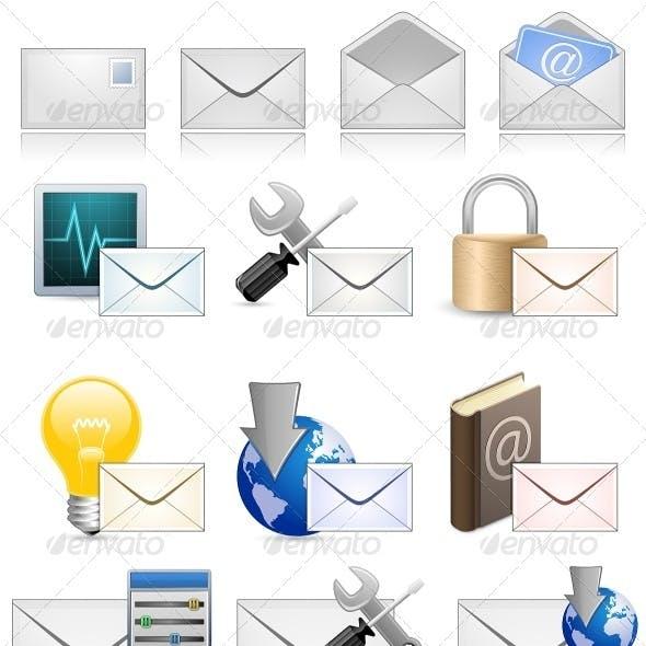 Mail Marketing Icon Set