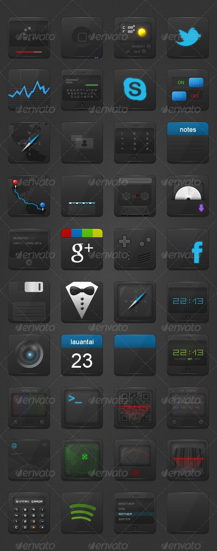 40 Phone Icons - Web Icons