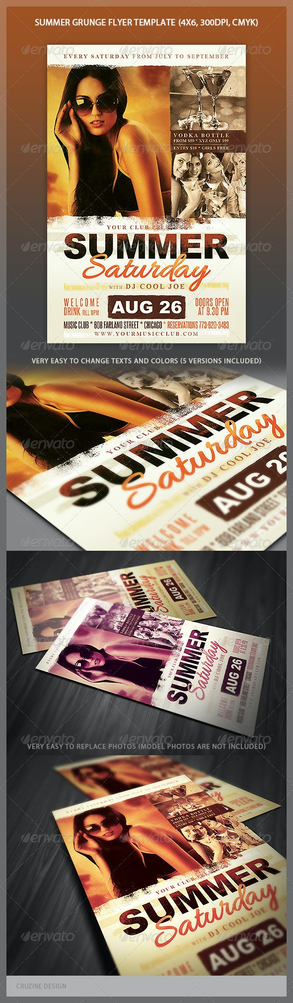 Summer Grunge Party Flyer - Events Flyers