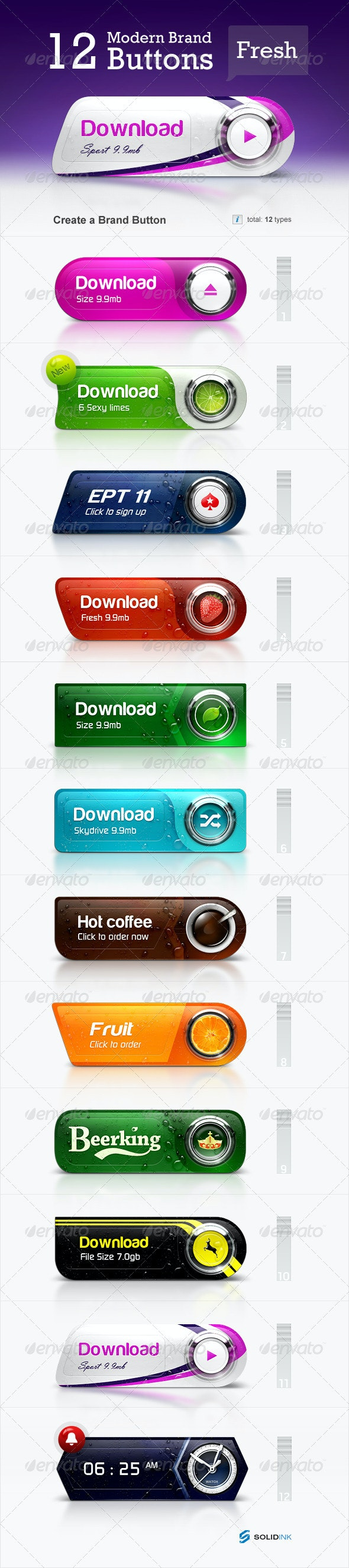 Brand Buttons - Buttons Web Elements