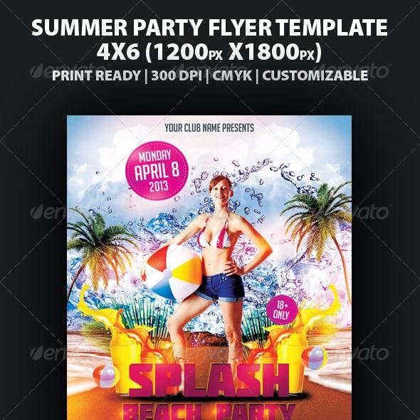 Splash Beach Party Flyer Template