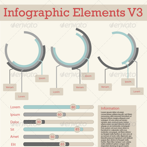 Simple Information Graphic Elements V3