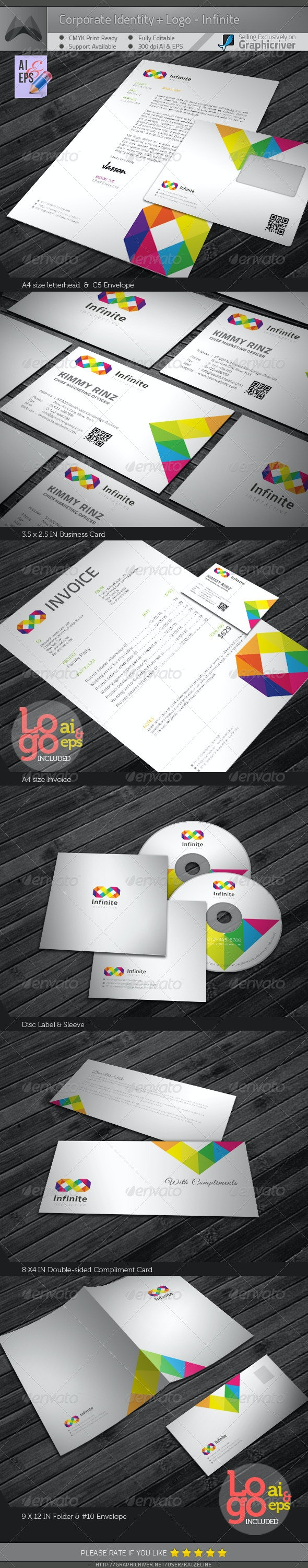 Corporate Identity Package - Infinite - Stationery Print Templates
