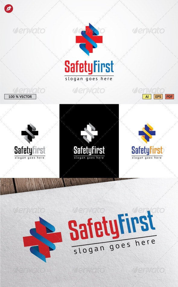 Safety First Logo Template - Symbols Logo Templates