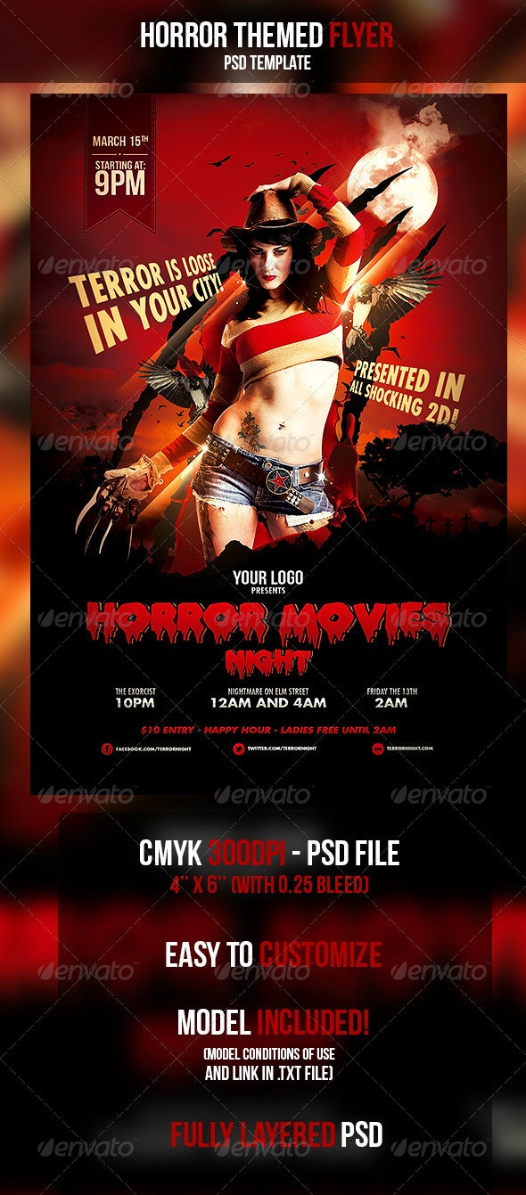 Horror Movies Themed Flyer - Events Flyers