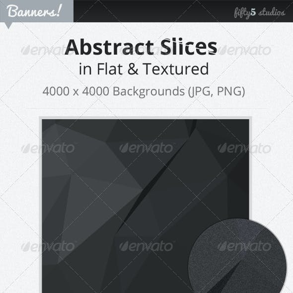24 Abstract Slices Graphic Backgrounds