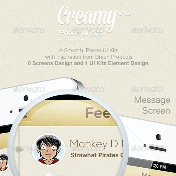 Creamy iPhone UI Kit