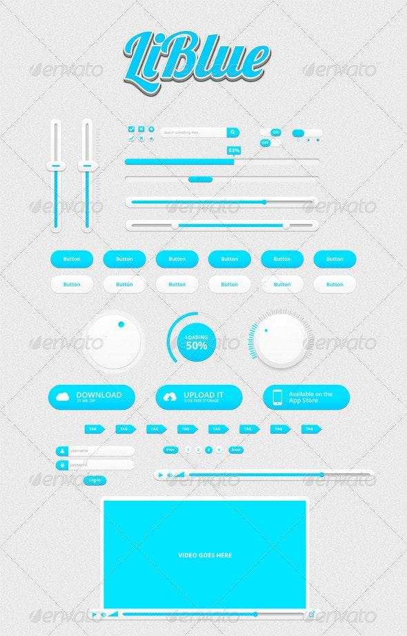 LiBlue UI Kit - User Interfaces Web Elements
