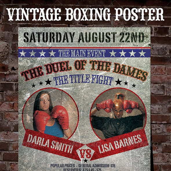 Old Boxing Poster