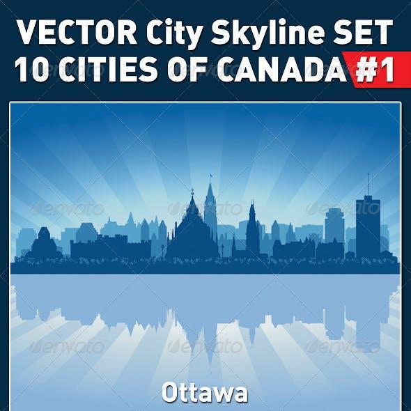 Vector City Skyline Set. Canada #1