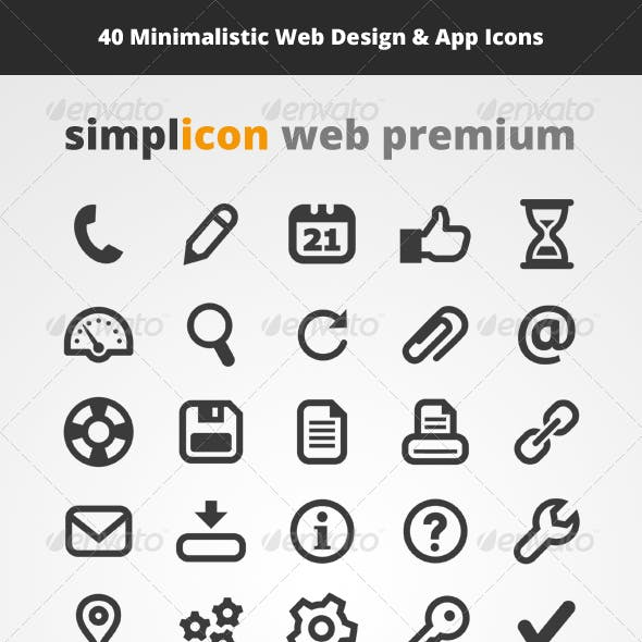 40 Web Design & App Vector Icons