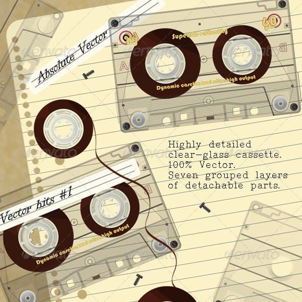 Realistic Transparent Cassette Kit