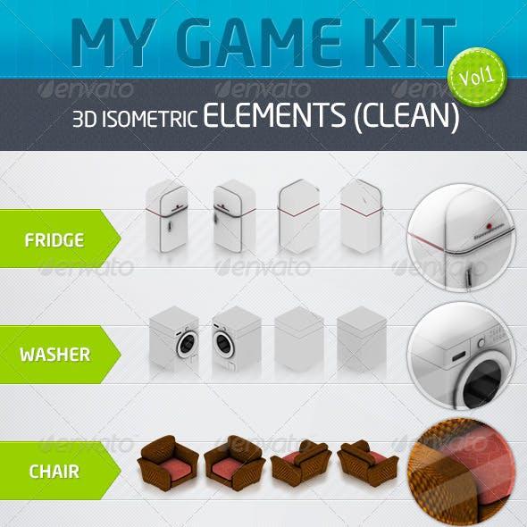 Mygame 3D Isometric Kit Vol.1