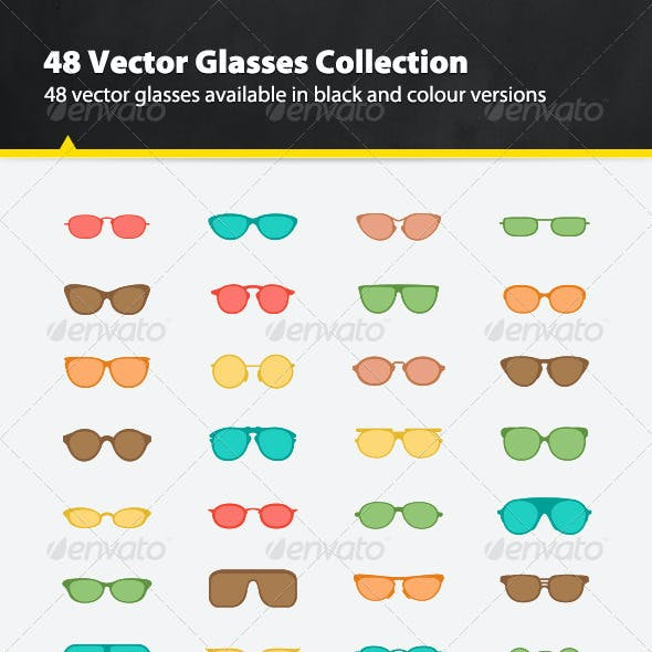 48 Vector Glasses Collection