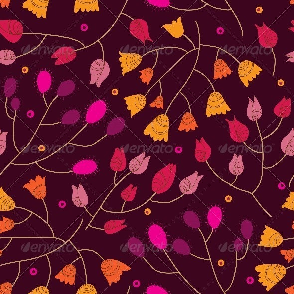 Floral Seamless Pattern in Vector  - Patterns Decorative