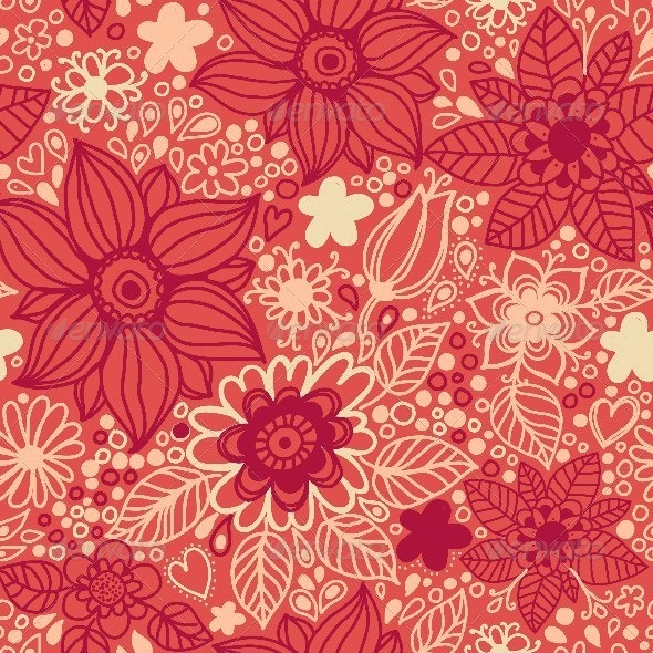 Floral Seamless Pattern in Vector. - Patterns Decorative