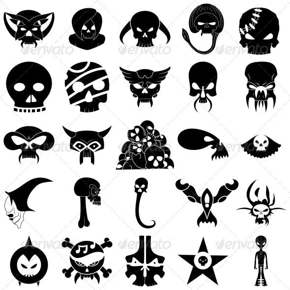 Skull Tattoo Designs Vector Pack