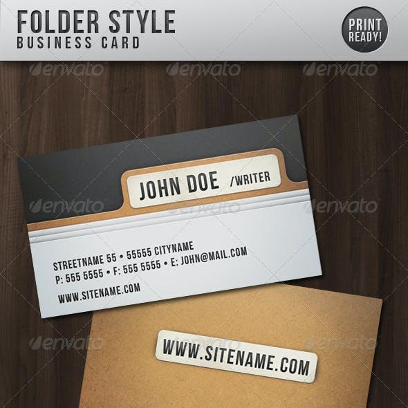 Folder Style Business Card