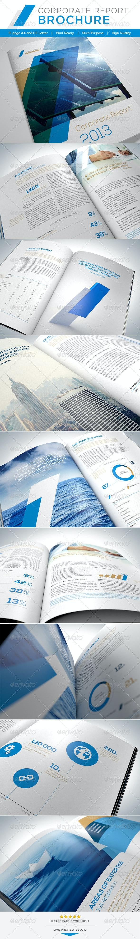 Corporate Report Brochure - Brochures Print Templates
