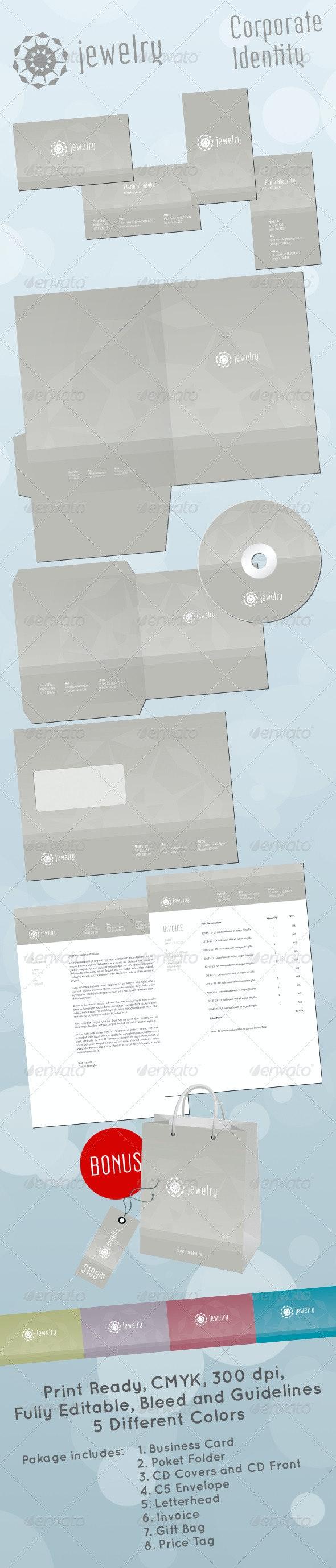 Jewelry Store Corporate Identity - Stationery Print Templates