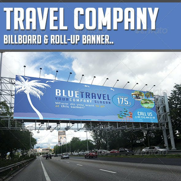 Travel Company - Billboard & Rollup Template