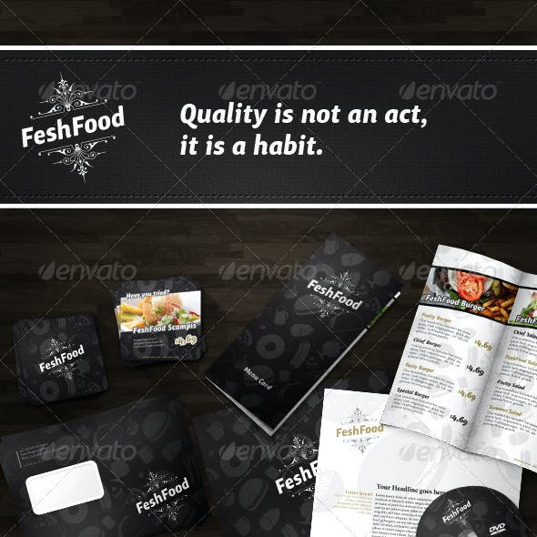Luxurious Corporate Identity for Restaurants