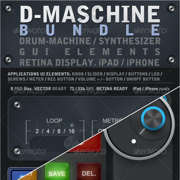 D-Maschine iPad / iPhone UI Elements Bundle