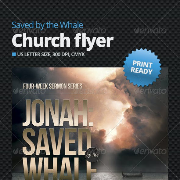 Saved by the Whale Church Flyer Template