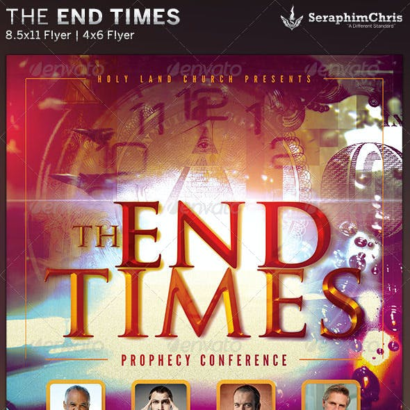 The End Times: Prophecy Conference Flyer Template
