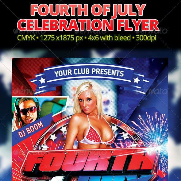 Fourth Of July Celebration Flyer