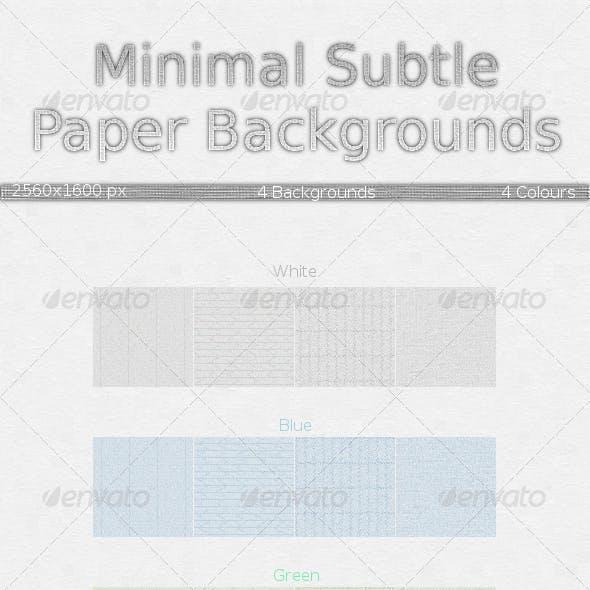 Light Minimal Subtle Paper Background Pack