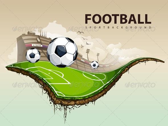 Vector illustration of surreal soccer field - Vectors