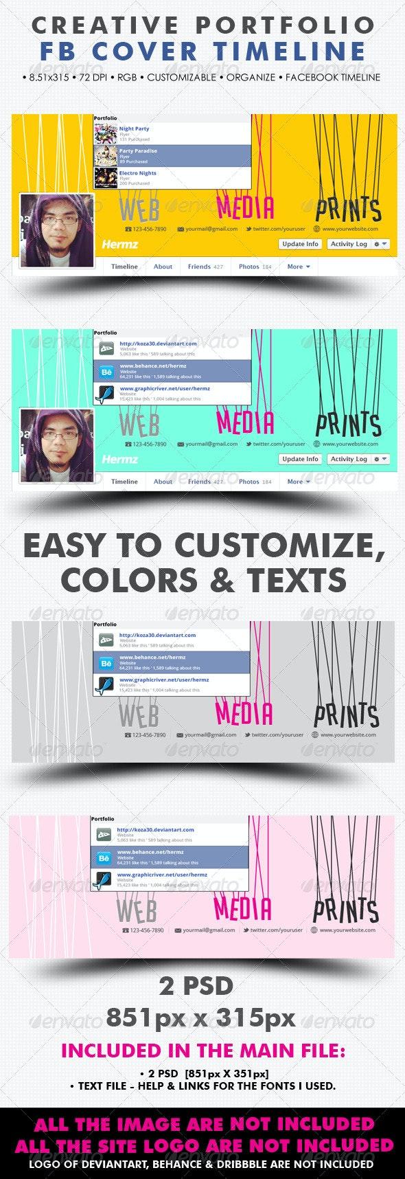 Creative Portfolio Facebook Cover - Facebook Timeline Covers Social Media