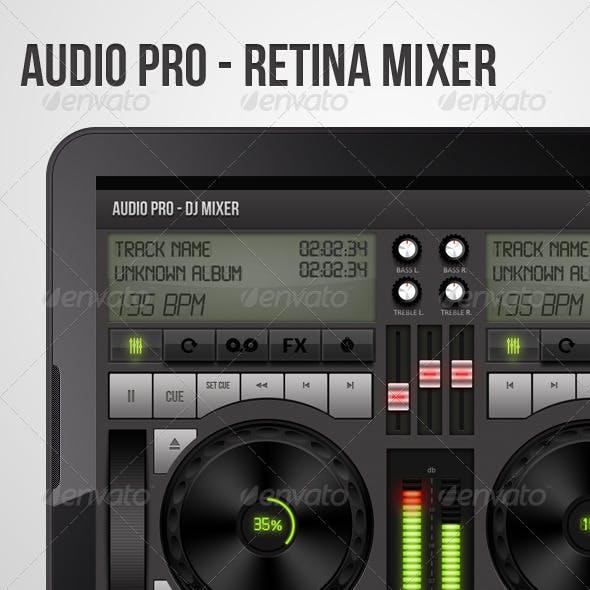 Dj Mixer Ui For Retina - Audio