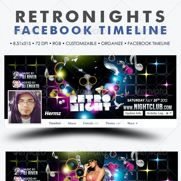 Retro Nights Facebook Timeline