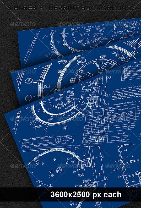 3 Blueprint Backgrounds - Backgrounds Graphics