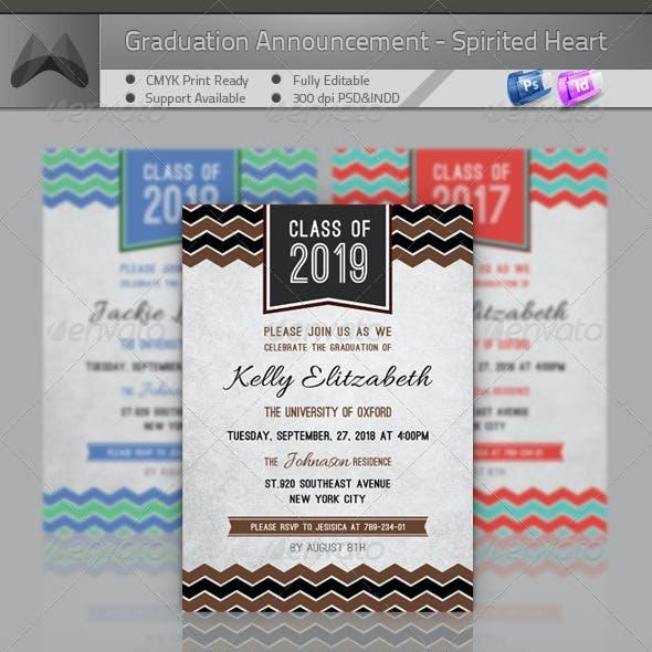 Graduation Announcement - Spirited Heart
