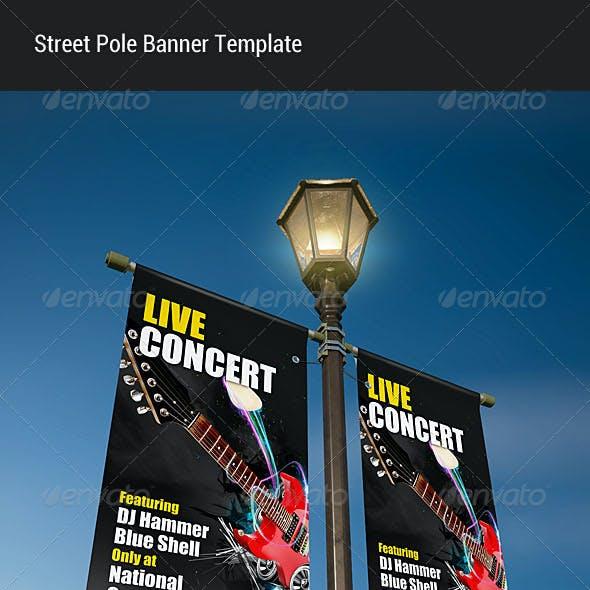 Street Pole Banner Mock-up