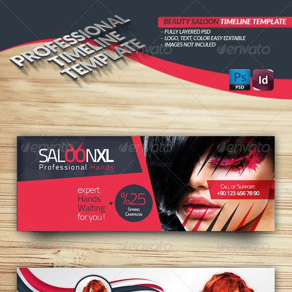 Beauty Saloon Timeline Template