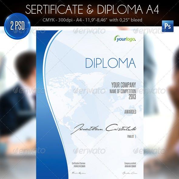 Sertificate & Diploma A4