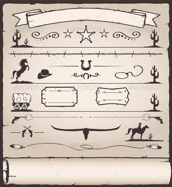 Design Elements Wild West - Decorative Symbols Decorative