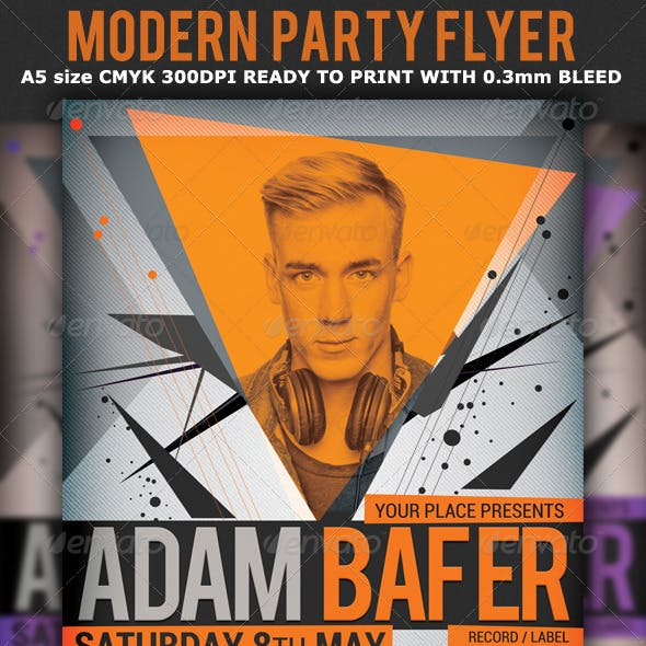 Modern Minimal Party Flyer Template