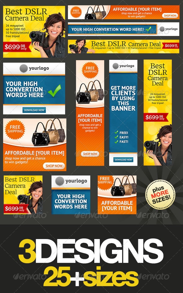 Banner Design Templates Pack 2 0 By Admiral Adictus Graphicriver